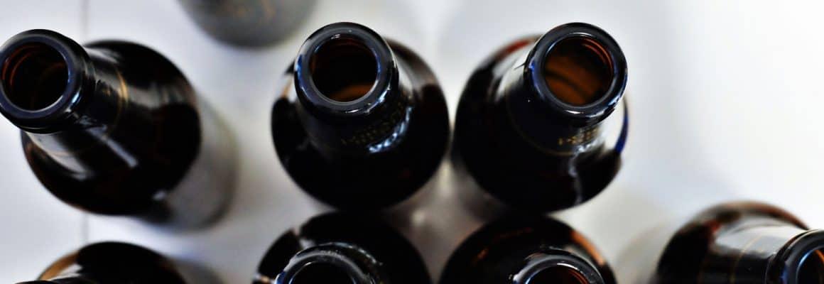 Bouteilles de bières IPA vides