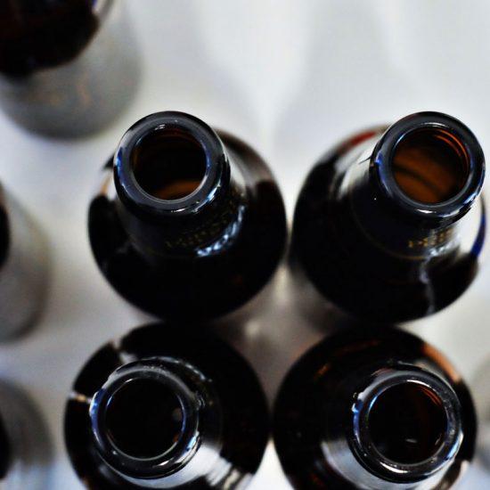 Bouteilles de bières vides