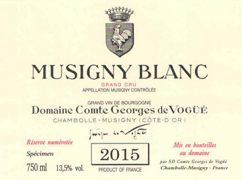 Etiquette Comte de Voguë