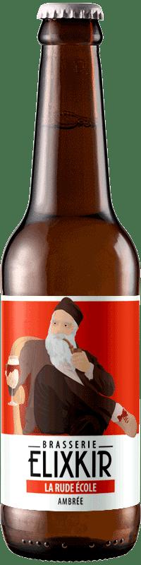 Bière Artisanale La Rude Ecole Amber Ale Brasserie Elixkir