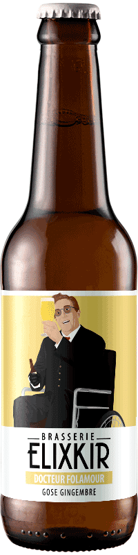 Bière Artisanale Gose Gingembre Docteur Folamour Brasserie Elixkir