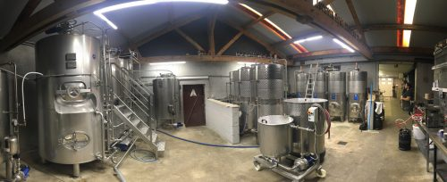 Salle de brassage de la brasserie Belenium