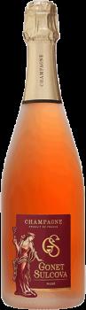Bouteille de Champagne Rosé Brut Gonet Sulcova