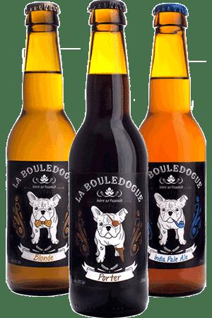 Coffret de bières artisanales La Bouledogue
