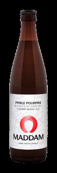 Bouteille de bière Perle Pourpre Brasserie Maddam