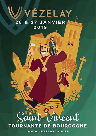Affiche Saint Vincent Tournante Vézelay