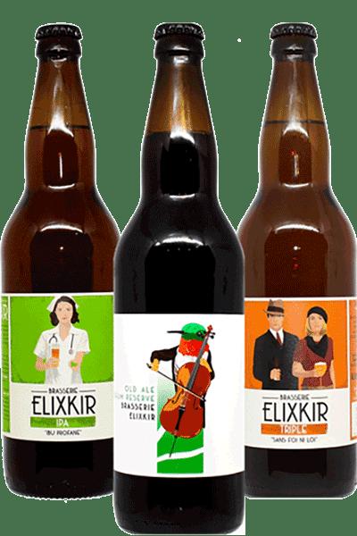 Coffret bières artisanales Brasserie Elixkir