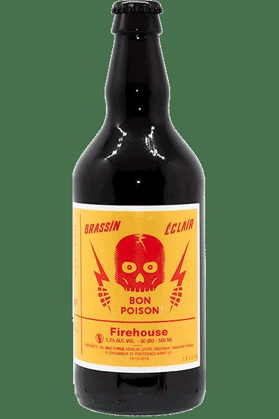 Bouteille de bière Firehouse Bon Poison tabasco