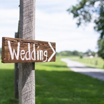 Pancarte de mariage