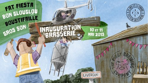 Affiche Inauguration Piggy Brewing Company