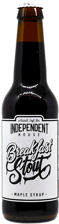 Bouteille de bière Breakfast Stout Brasserie Independent House