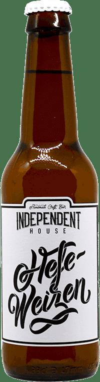 Bouteille de bière HefeWeizen Brasserie Independent House