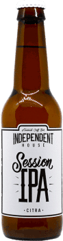 Bouteille de bière Session IPA Brasserie Independent House