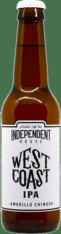 Bouteille de bière West Coast IPA Brasserie Independent House