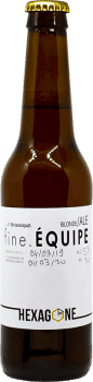 Bouteille de bière Fine Equipe brasserie Hexagone Ales