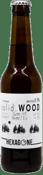 Bouteille de bière Solid Wood brasserie Hexagone Ales