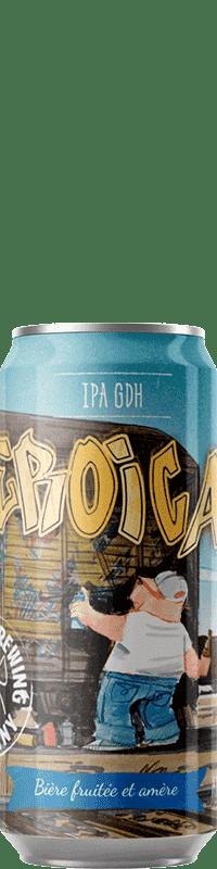 Canette de bière Eroica IPA Brasserie Piggy Brewing Company