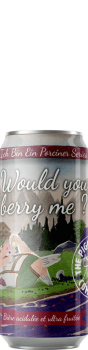Canette de bière Would you berry me Sour Brasserie Piggy Brewing Company