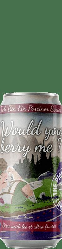 Canette de bière Would you berry me Sour Brasserie Piggy Brewing Company