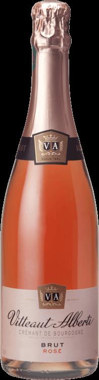 Bouteille de Rosé Crémant de Bourgogne Vitteaut Alberti
