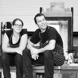 L'équipe de cuisinier et brasseur Two Dudes