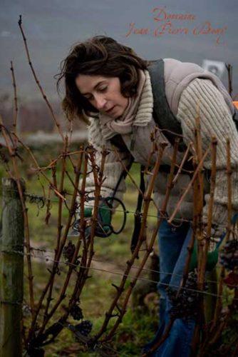 Fabienne Bony travaille dans les vignes