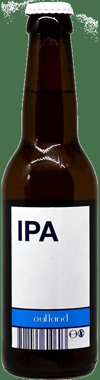 Bouteille de bière artisanale IPA Home Brasserie Outland