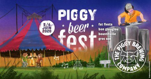 AFFICHAGE DU FESTIVAL DE BIERES DE PIGGY BREWING COMPANY