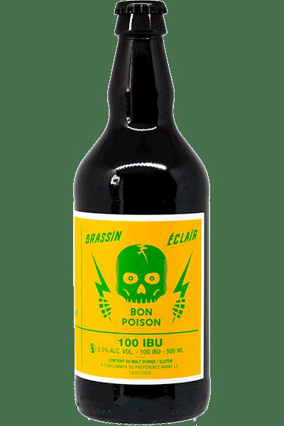 Bouteille de bière 100 IBU Bon Poison