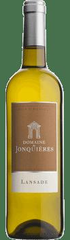 Bouteille de la cuvée Lansade Blanc du Château de Jonquières