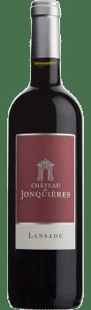 Bouteille de la cuvée La Baronnie rouge du Château de Jonquières