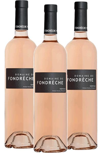 Bouteilles de Rosés Cuvée Domaine du Domaine de Fondrèche