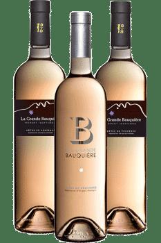 Bouteilles de vin du Domaine de la Grande Bauquière