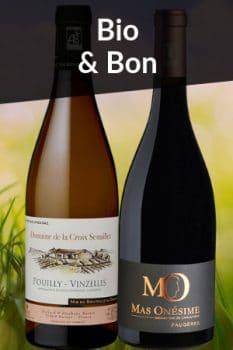 Bouteilles de vin de la Sélection Spécial Fête des Mères Bio et Bon