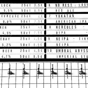 Carte des bières Lightbox du bar IBU