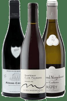Bouteilles de vin du coffret Sur les routes de Bourgogne
