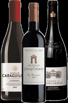 outeilles de vin du coffret Les Trésors cachés du Languedoc
