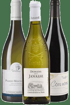 Bouteilles de vin du coffret Les Beaux Flacons
