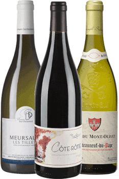 Bouteilles de vins du Coffret les Beaux Flacons