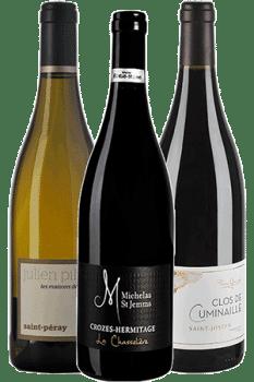 outeilles de vin du coffret Voyage en Vallée du Rhône