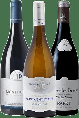 Bouteilles de vin du Coffret Les Routes de Bourgogne