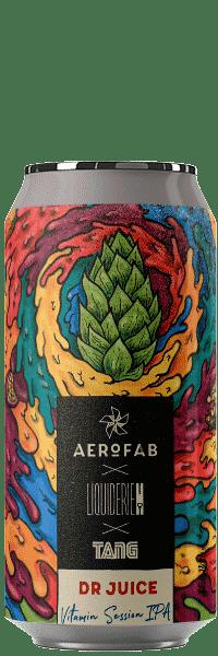 Canette de bière Dr Juice Session IPA brasserie aerofab