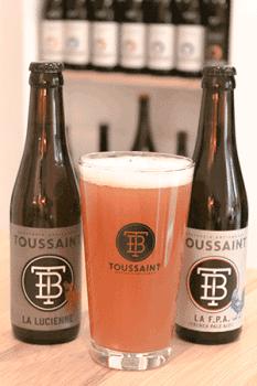 Coffret de bières artisanales avec verres brasserie Toussaint