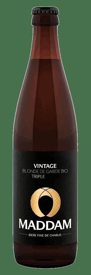 Bouteille de bière Vintage Brasserie Maddam