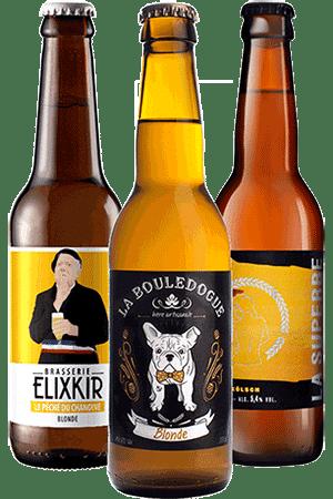 Coffret bières blonde Brasseries artisanales françaises
