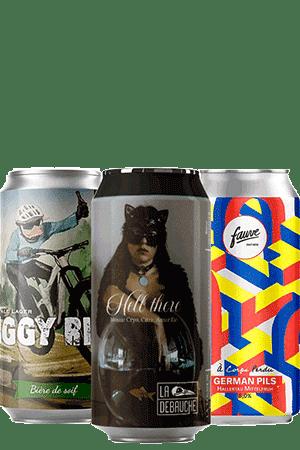 Coffret bières pils lager Brasseries artisanales françaises