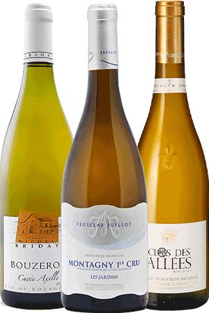 Bouteilles de vin du coffret Bord de Mer