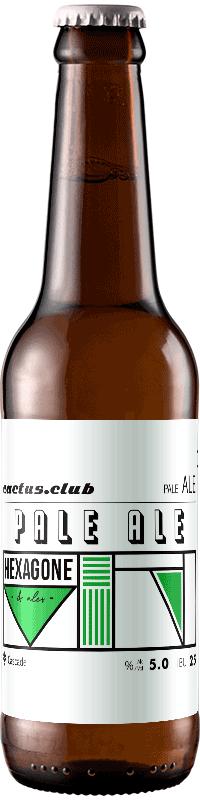 Bouteille de bière Cactus Club Pale Ale brasserie Hexagone Ales