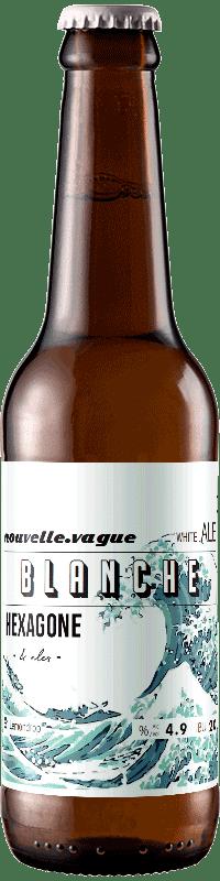 Bouteille de bière nouvelle vague blanche brasserie Hexagone Ales