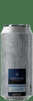 Canette de bière tourbillon single hop simcoe brasserie aerofab
